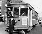 The last run of the last Waterbury trolley, 1937