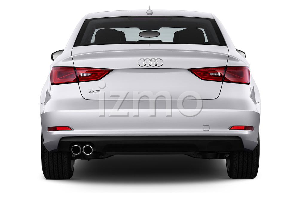 Straight rear view of a 2015 Audi A3 2.0 T DSG 4 Door Sedan