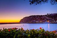 Orange Glow Over Dana Point Harbor