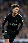 Adrien Rabiot of Paris Saint Germain celebrates his goal during the UEFA Champions League 2017-18 Round of 16 (1st leg) match between Real Madrid vs Paris Saint Germain at Estadio Santiago Bernabeu on February 14 2018 in Madrid, Spain. Photo by Diego Souto / Power Sport Images