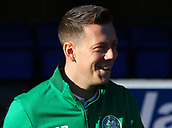 4th November 2017, McDiarmid Park, Perth, Scotland; Scottish Premiership football, St Johnstone versus Celtic; Callum McGregor goes through his pre-match warm-uo