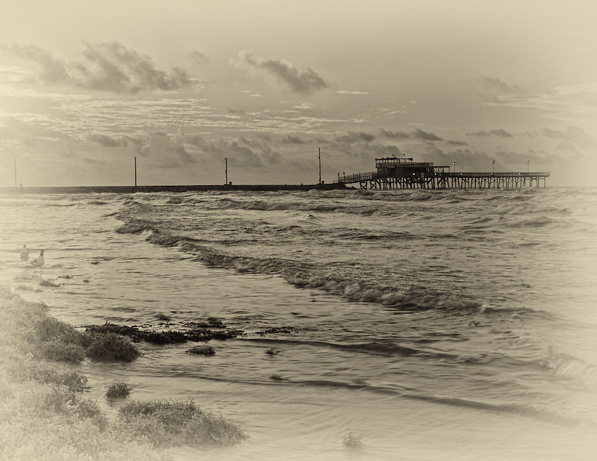 The pier at Galveston Island, Texas. This was made the day before Hurricane Katrina hit the New Orleans area..