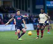 2nd December 2017, Global Energy Stadium, Dingwall, Scotland; Scottish Premiership football, Ross County versus Dundee; Ross County's Christopher Routis crosses in front of Dundee's Roarie Deacon