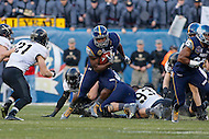 Philadelphia, PA - December 12, 2015:     Navy Midshipmen fullback Chris Swain (37) runs the ball during the 116th game between Army vs Navy at Lincoln Financial Field in Philadelphia, PA. (Photo by Elliott Brown/Media Images International)
