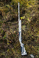 A new Super Black Eagle III Benelli shotgun in Cold Bay, Alaska, Monday, October 31, 2016. The Izembek National Wildlife Refuge lies on the northwest coastal side of central Aleutians East Borough along the Bering Sea and Cold Bay. Birds hunted include the long tailed duck, the Steller's Eider, the Harlequin, the King Eider and Brant.<br /> <br /> <br /> Photo by Matt Nager