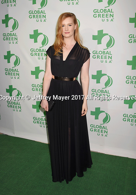 LOS ANGELES, CA - FEBRUARY 22: Producer Kimberly Van Der Beek arrives at the 14th Annual Global Green Pre-Oscar Gala at TAO Hollywood on February 22, 2017 in Los Angeles, California.