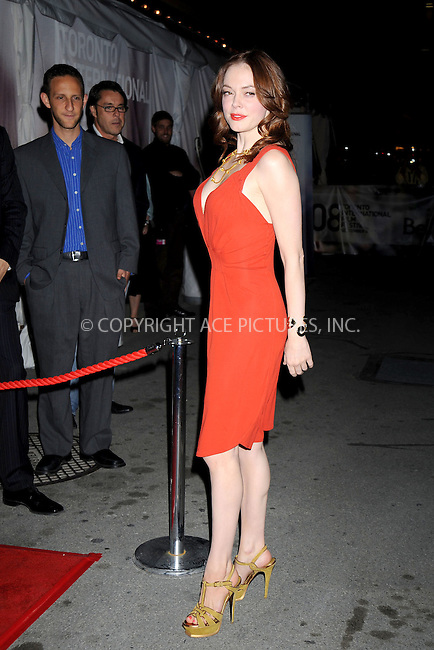 WWW.ACEPIXS.COM . . . . .....September 10, 2008. Toronto, Canada....Actress Rose McGowan attends the 2008 Toronto International Film Festival's 'Fifty Dead Men Walking' Premiere held at Roy Thomson Hall on September 10, 2008 in Toronto, Canada...  ....Please byline: Kristin Callahan - ACEPIXS.COM..... *** ***..Ace Pictures, Inc:  ..Philip Vaughan (646) 769 0430..e-mail: info@acepixs.com..web: http://www.acepixs.com