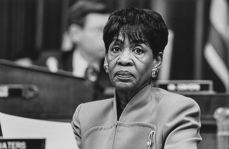 Rep. Maxine Waters, D-Calif., in February 1997. (Photo by Maureen Keating/CQ Roll Call)