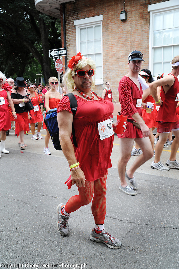 Red Dress Run in French Quarter