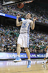 16 March 2012: North Carolina Tar Heels forward Tyler Zeller (44) during the North Carolina Tar Heels game versus the Vermont Catamounts in the Second Round of the NCAA Division I Men's Basketball Championship at Greensboro Coliseum in Greensboro, NC.