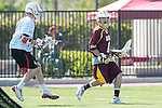 Orange, CA 05/02/10 - Anthony Laflam (ASU # 1) in action during the Chapman-Arizona State MCLA SLC Division I final at Wilson Field on Chapman University's campus.  Arizona State defeated Chapman 13-12 in overtime.