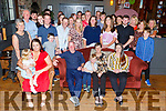 Del White from Tralee celebrating her 60th birthday in the Ashe Hotel on Saturday night.<br /> L to r: Melissa and Ava Grace McGuire, Josh White, Darragh McGuire, Dell and Aisling White.