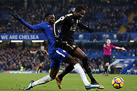 Tiemoue Bakayoko of Chelsea and Daniel Amartey of Leicester city during Chelsea vs Leicester City, Premier League Football at Stamford Bridge on 13th January 2018