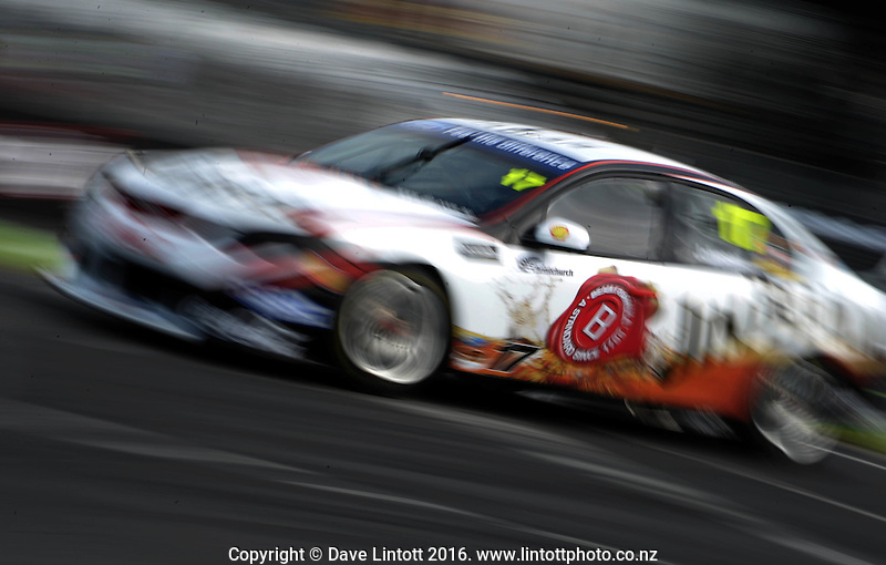 Steve Johnson during practice. V8 Supercars - ITM 400 at Hamilton Street Circuit, Hamilton, New Zealand on Friday, 15 April 2011. Photo: Dave Lintott / lintottphoto.co.nz