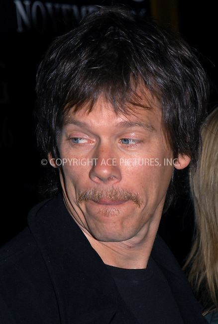 Kevin Bacon at the premiere of 'The Missing.' New York, November 16, 2003. Please byline: AJ SOKLANER/NY Photo Press.   ..*PAY-PER-USE*      ....NY Photo Press:  ..phone (646) 267-6913;   ..e-mail: info@nyphotopress.com