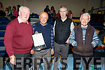 Mick O'Connell (Castleisland), Neil Moynihan (Castleisland), John O'Connell (Castleisland) and Danny Loughlin (Cordal) attending the St Marys Basketball Monster bingo night in Castleisland on Tuesday.