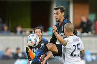 San Jose, CA - Saturday May 27, 2017: Chris Wondolowski, Rafael Garcia during a Major League Soccer (MLS) match between the San Jose Earthquakes and the Los Angeles Galaxy at Avaya Stadium.