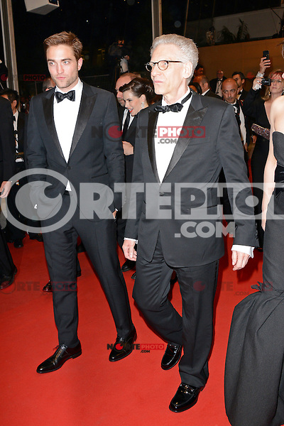 """Robert Pattinson and David Cronenberg attending the """"Cosmopolis"""" Premiere during the 65th annual International Cannes Film Festival in Cannes, France, 25.05.2012...Credit: Timm/face to face /MediaPunch Inc. ***FOR USA ONLY***"""