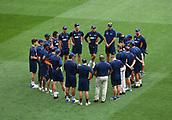 23rd March 2018, Eden Park, Auckland, New Zealand; International Test Cricket, New Zealand versus England, day 2;  NZ team huddle
