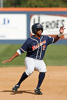 Khris Davis of the Cal State Fullerton Titans during a game against the Rice Owls at Goodwin Field on March 4, 2007 in Fullerton, California. (Larry Goren/Four Seam Images)