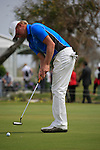 Jeppe Huldahl (DEN) takes his putt on the 18th green during Day 2 Friday of the Open de Andalucia de Golf at Parador Golf Club Malaga 25th March 2011. (Photo Eoin Clarke/Golffile 2011)