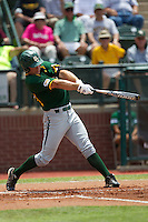 Baylor Bears PPP Dan Evatt #23 swings during the NCAA Regional baseball game against Oral Roberts University on June 3, 2012 at Baylor Ball Park in Waco, Texas. Baylor defeated Oral Roberts 5-2. (Andrew Woolley/Four Seam Images)