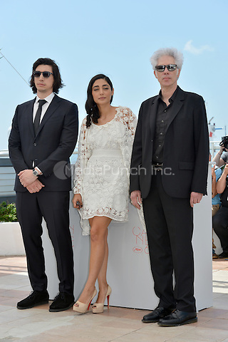 Adam Driver, Golshifteh Farahani and Jim Jarmusch at the Photocall 'Paterson' - 69th Cannes Film Festival on May 16, 2016 in Cannes, France.<br /> CAP/LAF<br /> &copy;Lafitte/Capital Pictures /MediaPunch ***NORTH AND SOUTH AMERICA ONLY***