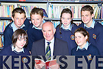 Jerh O'Donoghue Scoil Phobail Sliabh Luachra Rathmore Principal who is retiring at the end of the school year with students front l-r: Shona Kerins, Katie O'Dea. back row Oisin O'Callaghan, Aidan O'Sullivan, Katie Nolan and Tadgh Moynihan     Copyright Kerry's Eye 2008