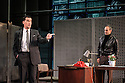 Hampstead Theatre presents HAPGOOD, by Tom Stoppard, directed by Howard Davies. Picture shows: Tim McMullan (Blair), Gerald Kyd (Ridley)