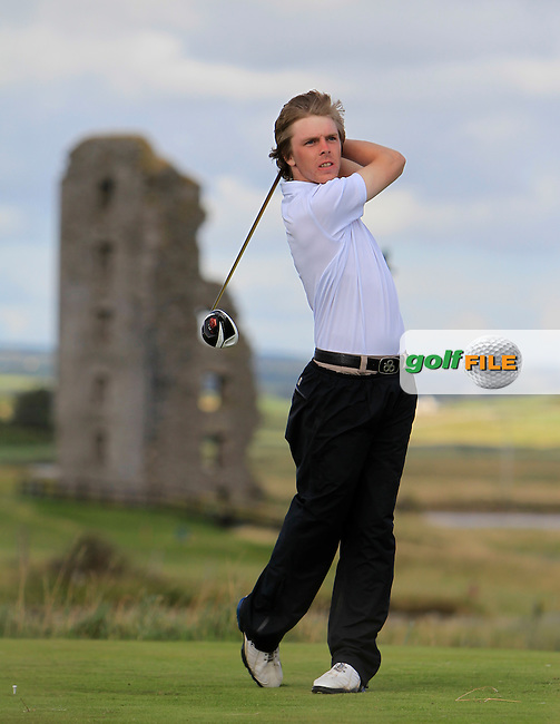 David Foy (Laytown/Bettystown) on the 13th tee during the South of Ireland Amateur Open Championship 4th Round at Lahinch Golf Club  29th July 2013 <br /> Picture:  Thos Caffrey / www.golffile.ie