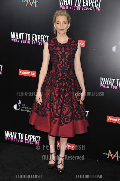 Actress Elizabeth Banks arrives at the premiere of 'What To Expect When You're Expecting' held at Grauman's Chinese Theatre in Hollywood.