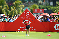 SINGAPORE - MARCH 03: Amy Olson of USA on the 18th tee during the final round of the HSBC Women's World Championship 2019 at Sentosa Golf Club - Tanjong Course, Singapore on March 03, 2019.<br /> .<br /> .<br /> .<br /> (Photo by: Naratip Golf Srisupab/SEALs Sports Images)<br /> .<br /> Any image use must include a mandatory credit line adjacent to the content which should read: Naratip Golf Srisupab/SEALs Sports Images