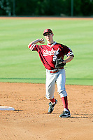 Danny Diekroger #2 of the Stanford Cardinal takes infield practice before a game against the Arizona State Sun Devils on April 29, 2011 at Packard Stadium, Arizona State University, in Tempe, Arizona. .Photo by:  Bill Mitchell/Four Seam Images.