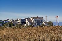 Homes overlooking the ocean, Oak Bluffs, Martha's Vineyard, Massachusetts, USA