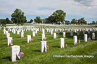 65095-01703 Flags on Memorial Day at Jefferson Barracks National Cemetery, St Louis, MO
