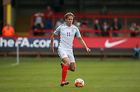 Kieran Dowell (Everton) of England during the International match between England U20 and Brazil U20 at the Aggborough Stadium, Kidderminster, England on 4 September 2016. Photo by Andy Rowland / PRiME Media Images.