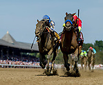 SARATOGA SPRINGS, NY - AUGUST 25: Abel Tasman  #1, ridden by jockey Mike Smith, wins the Personal Ensign Stakes on Travers Stakes Day at Saratoga Race Course on August 25, 2018 in Saratoga Springs, New York. (Photo by Scott Serio/Eclipse Sportswire/Getty Images)