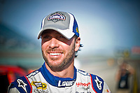 A loose, confidant and smiling Jimmie Johnson (#48) after qualifying.