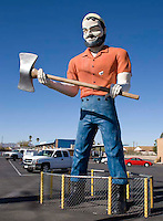 Axe weilding muffler man in Tucson, Arizona