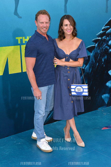 """LOS ANGELES, CA - August 06, 2018: Ian Ziering & Erin Kristine Ludwig at the US premiere of """"The Meg"""" at the TCL Chinese Theatre"""