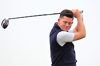 Peter McKeever (Castle) on the 2nd tee during Round 1 of The East of Ireland Amateur Open Championship in Co. Louth Golf Club, Baltray on Saturday 1st June 2019.<br /> <br /> Picture:  Thos Caffrey / www.golffile.ie<br /> <br /> All photos usage must carry mandatory copyright credit (© Golffile | Thos Caffrey)