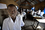Students in a classroom in Malakal, Southern Sudan. NOTE: In July 2011 Southern Sudan became the independent country of South Sudan.
