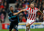 Erik Pieters of Stoke competes with Kelechi Iheanacho of Manchester City - Football - Barclays Premier League - Stoke City vs Manchester City - Britannia Stadium Stoke - December 5th 2015 - Season 2015/2016 - Photo Malcolm Couzens/Sportimage