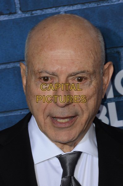 Alan Arkin .Montblanc Hosts Pre-Oscar Charity Brunch Benefiting UNICEF held at Hotel Bel-Air, Los Angeles, California, USA..February 23rd, 2013.headshot portrait black white shirt tie mouth open.CAP/ADM/TW.©Tonya Wise/AdMedia/Capital Pictures