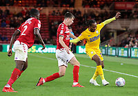 Preston North End's Daniel Johnson holds off the challenge from Middlesbrough's Paddy McNair<br /> <br /> Photographer Alex Dodd/CameraSport<br /> <br /> The EFL Sky Bet Championship - Middlesbrough v Preston North End - Tuesday 1st October 2019  - Riverside Stadium - Middlesbrough<br /> <br /> World Copyright © 2019 CameraSport. All rights reserved. 43 Linden Ave. Countesthorpe. Leicester. England. LE8 5PG - Tel: +44 (0) 116 277 4147 - admin@camerasport.com - www.camerasport.com