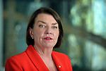 Australian Banking Association CEO Anna Bligh at a press conference in response to the releasing of the Banking Royal Commission findings at Parliament House in Canberra, Monday, February 4, 2019. Photographer: Mark Graham/Bloomberg