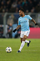 Manchester City's Raheem Sterling in action <br /> <br /> Photographer Craig Mercer/CameraSport<br /> <br /> UEFA Champions League Round of 16 First Leg - Basel v Manchester City - Tuesday 13th February 2018 - St Jakob-Park - Basel<br />  <br /> World Copyright &copy; 2018 CameraSport. All rights reserved. 43 Linden Ave. Countesthorpe. Leicester. England. LE8 5PG - Tel: +44 (0) 116 277 4147 - admin@camerasport.com - www.camerasport.com