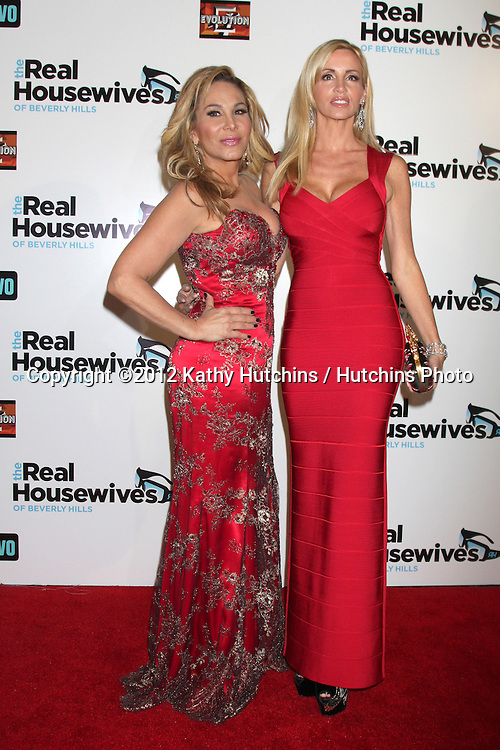 """LOS ANGELES - OCT 21:  Adrienne Maloof, Camille Grammer arrives at  """"The Real Housewives of Beverly Hills"""" Season three premiere red carpet event at Roosevelt Hotel on October 21, 2012 in Los Angeles, CA"""