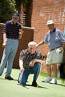 Retired Senior Men Golfing