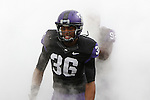 TCU Horned Frogs linebacker Joel Hasley (36) in action during the game between the Oklahoma Sooners and the TCU Horned Frogs  at the Amon G. Carter Stadium in Fort Worth, Texas. OU defeats TCU 24 to 17.